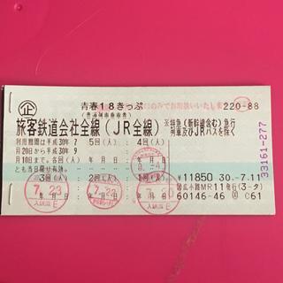 青春18きっぷ 残り1回 青春18切符(鉄道乗車券)