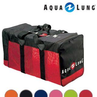 アクアラング(Aqua Lung)のメッシュバッグ 赤(ダイビング,シュノーケリング)(マリン/スイミング)