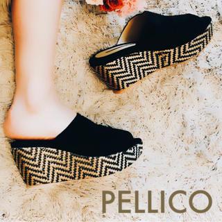ペリーコ(PELLICO)の美品  PELLICOペリーコ ウェッジソールサンダル 35 22.5〜23(サンダル)