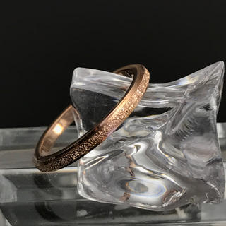 《R104/6.5号》『きらきら加工リング』ピンクゴールドステンレスリング (リング(指輪))