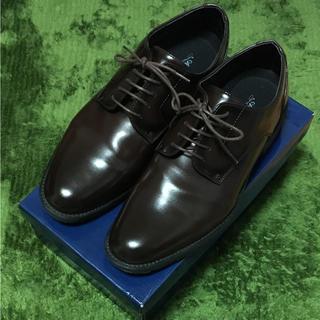 アスビー(ASBee)のASBee アスビー メンズ 耐水 防滑 革靴 ダークブラウン(ドレス/ビジネス)