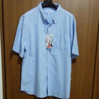 シマムラ(しまむら)の新品 島村 メンズ 5L アセボウOxシャツ 綿100% 中水色(Tシャツ/カットソー(半袖/袖なし))