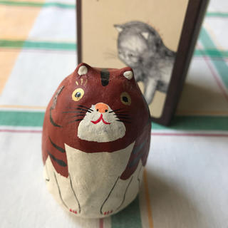 H.P.FRANCE 六原張子 起き上がり子法師 猫茶  とても美品