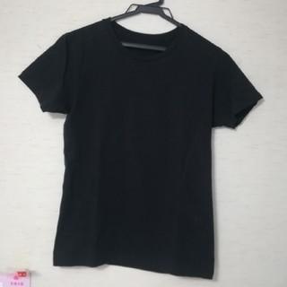 黒色 無地Tシャツ(Tシャツ(半袖/袖なし))