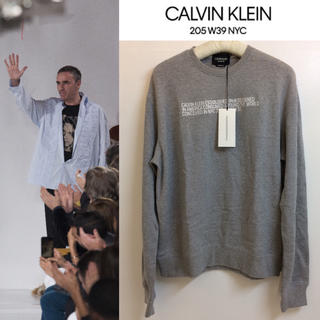 カルバンクライン(Calvin Klein)のCALVIN KLEIN 205W39NYC ラフシモンズ ロゴ刺繍スウェット(スウェット)