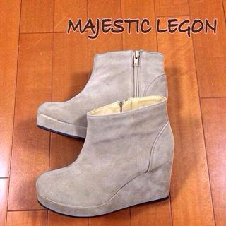 マジェスティックレゴン(MAJESTIC LEGON)のSaki 様専用♡ マジェ Fスエードブーティー(ブーツ)
