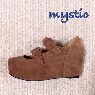 ミスティック(mystic)のmystic 厚底ダブルストラップ(ハイヒール/パンプス)