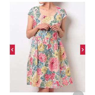 キャスキッドソン(Cath Kidston)の新品 タグ付き キャスキッドソン ワンピース 花柄 フラワー(ひざ丈ワンピース)