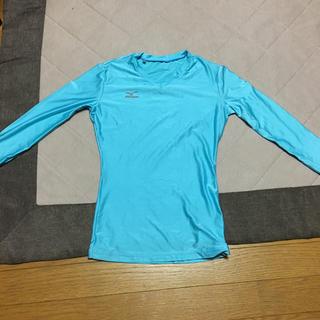 ミズノ(MIZUNO)のMIZUNOのVネックの長袖シャツ(Tシャツ(長袖/七分))