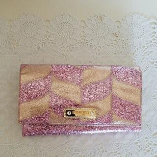 アッシュアンドダイアモンド(ASH&DIAMONDS)のアッシュアンドダイアモンド 長財布  ピンクメラ(財布)