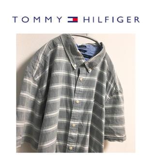 トミーヒルフィガー(TOMMY HILFIGER)のトミー トミーヒルフィガー シャツ パジャマシャツ ボーダー オーバーサイズ(シャツ)