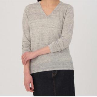 MUJI (無印良品) - MUJI フレンチリネンUVカットVネックセーター