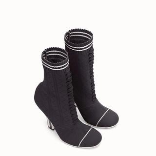 フェンディ(FENDI)の新品 FENDI ファブリックブーツ 36 定価以下(ブーツ)