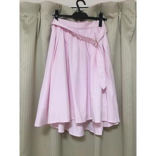 バイバイ(ByeBye)のピンクストライプスカート(ロングスカート)