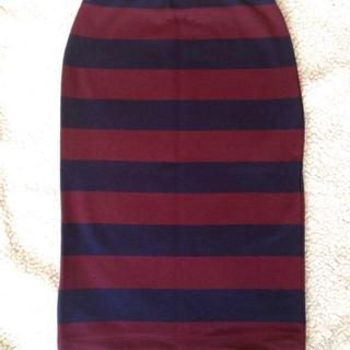 アウラアイラ(AULA AILA)のAULA AILA☆ボーダースカート(ひざ丈スカート)