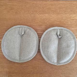 ムジルシリョウヒン(MUJI (無印良品))の無印良品 鍋つかみ 2個セット(収納/キッチン雑貨)