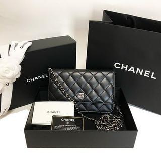 シャネル(CHANEL)の【新品】[CHANEL] チェーンウォレット 長財布 黒ブラック(財布)