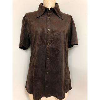 ゴーサンゴーイチプールオム(5351 POUR LES HOMMES)の5351 プールオム POUR LES HOMMES 半袖シャツ 茶色(シャツ)