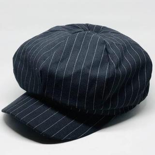 キャスケット 帽子 キャップ ピンヘッド ストライプ ブラック(キャスケット)