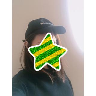 ザラ(ZARA)のZARA ザラ テキスト キャップ 帽子 ブラック(キャップ)