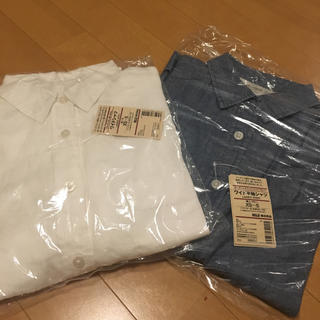ムジルシリョウヒン(MUJI (無印良品))の新品 無印良品 フレンリネン&コットン ワイドシャツ 2点セット(シャツ/ブラウス(半袖/袖なし))
