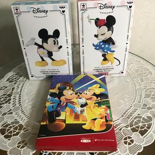 ディズニー(Disney)の【新品未使用】ディズニー☆ミッキー&ミニー ☆フィギュア&ハンディタオル セット(その他)