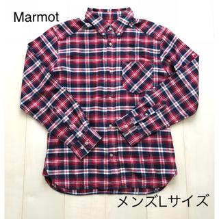 マーモット(MARMOT)の【Marmot】マーモット メンズチェックシャツ Lサイズ(シャツ)