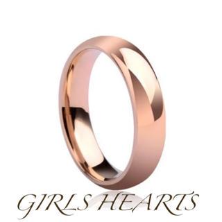 送料無料18号ピンクゴールドサージカルステンレスシンプルリング指輪値下残りわずか(リング(指輪))