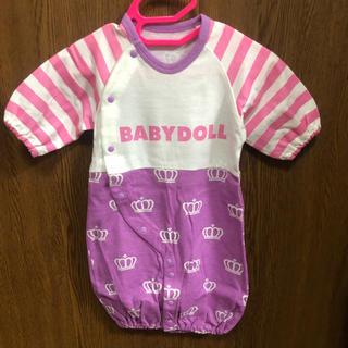 ベビードール(BABYDOLL)の新品未使用 baby doll 肌着2枚ロンパース2枚(ロンパース)