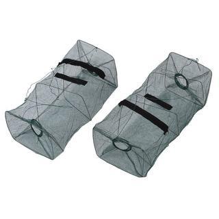 魚捕り用網カゴ 2枚セット トラップ お魚キラー 長さ50cm 幅21cm(その他)