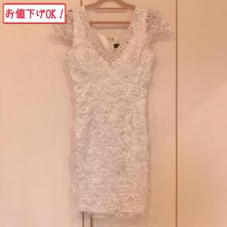 エンジェルアール(AngelR)のミニドレス♡リアージュ♡riage♡ホワイト♡7号♡Sサイズ♡(ナイトドレス)