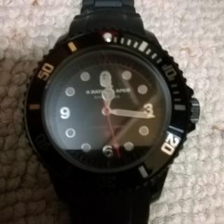 アベイシングエイプ(A BATHING APE)のBLACK BAPEX CLEAR 腕時計(腕時計)