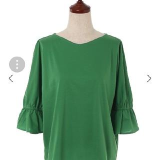 セブンアイディコンセプト(7-Idconcept)の7-IDconceptの緑のカットソー(カットソー(半袖/袖なし))