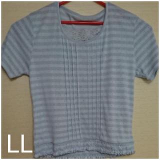 ボーダーTシャツ LL(Tシャツ(半袖/袖なし))