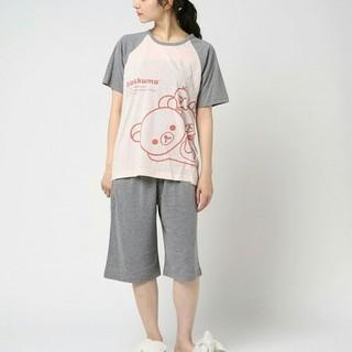 シマムラ(しまむら)のリラックマ 半袖ルームウェア+5分丈パンツ ダークグレー / M(パジャマ)