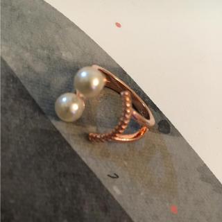 スマイルビジューリング ピンクゴールド色(リング(指輪))