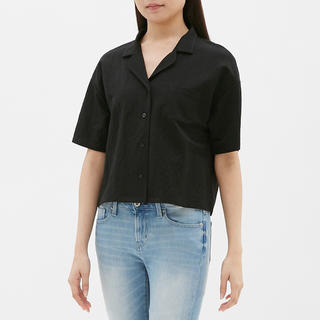 ジーユー(GU)のGU オープンカラーシャツ(5分袖)SA (シャツ/ブラウス(半袖/袖なし))