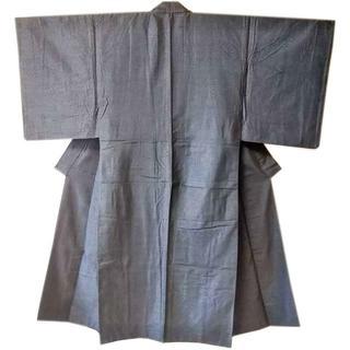 3684 男性着物 無地 紺色 リメイク素材にも(着物)