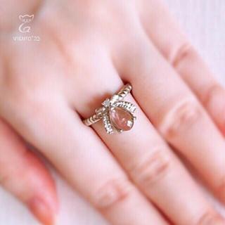 ウォーターメロントルマリン 指輪 シルバー925 リボンTM2007(リング(指輪))