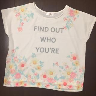 シマムラ(しまむら)の花柄 シフォン重ねTシャツ(Tシャツ/カットソー)