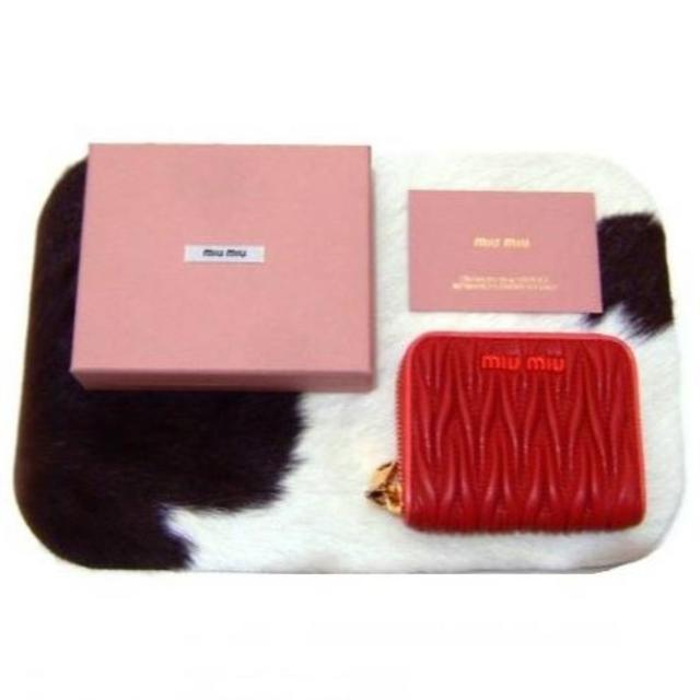 finest selection 4c735 8aa5e MIUMIUコインケースマテラッセ赤カードケースミニ財布新品S20 | フリマアプリ ラクマ