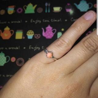 ピンキーリング サンゴ シルバー(リング(指輪))