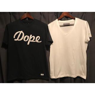 ダブルジェーケー(wjk)の最終値下げ DOPE メンズ 半袖Tシャツ wjk メンズ 半袖Tシャツ 2枚(Tシャツ/カットソー(半袖/袖なし))