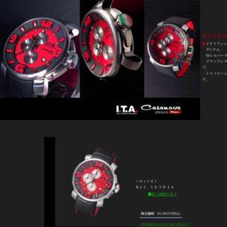 アイティーエー(I.T.A.)のI.T.A腕時計カサノバクロノロッソ4日本限定生産終了(腕時計(アナログ))