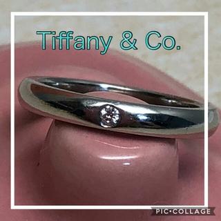 ティファニー(Tiffany & Co.)の本日限定!☆超美品☆ ティファニー Pt950 ダイヤ スタッキングバンドリング(リング(指輪))