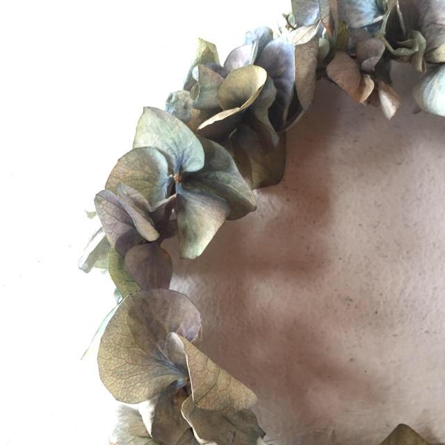 pepe様専用ページ!アジサイのナチュラルドライフラワーリース ハンドメイドのフラワー/ガーデン(ドライフラワー)の商品写真
