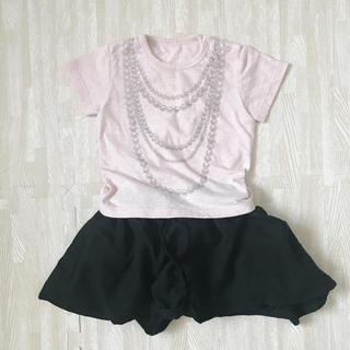 ディーフェセンス(D.fesense)のD.fesense  Tシャツ風ロンパース  80サイズ(ロンパース)