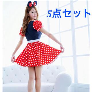 5e8f1a56f54c0  新品送料込 ミニーちゃんワンピース ハロウィンドレス ディズニー衣装(衣装)