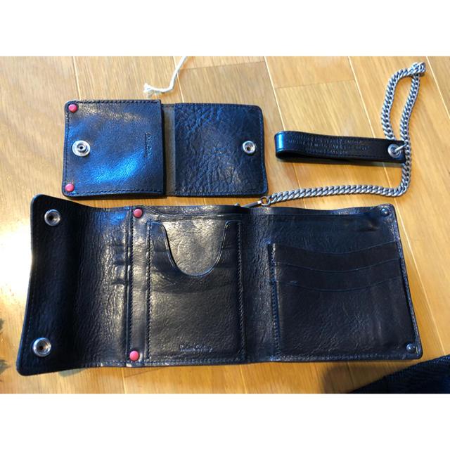 DELUXE(デラックス)のdeluxe タンニンレザーウォレット ウォレットチェーン コインケース メンズのファッション小物(折り財布)の商品写真
