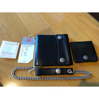 デラックス(DELUXE)のdeluxe タンニンレザーウォレット ウォレットチェーン コインケース(折り財布)